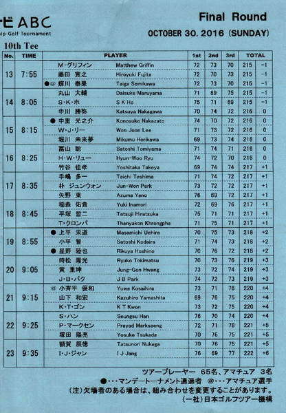 2016-10・30  今日のゴルフ鑑賞模様・・・ (2).jpg